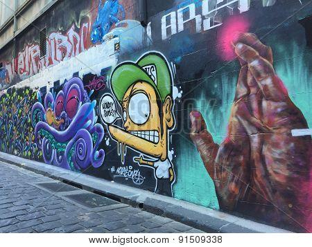Street art of graffiti
