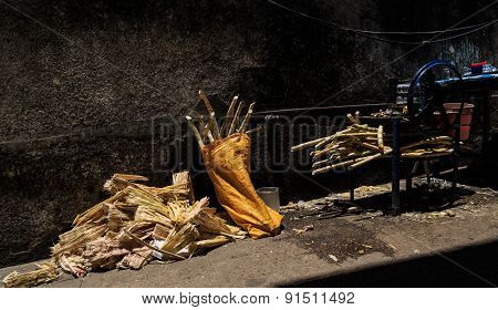 Cane Sugar Sale In The Streets Of Stone Town