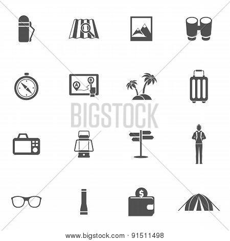 Tourist Icons Set