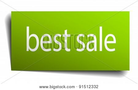 Best Sale Green Paper Sign On White Background