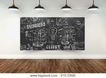 3D Drawing Business Concept On Poster