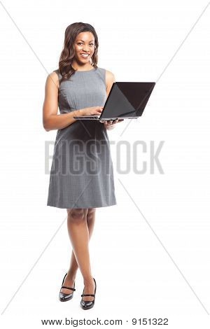 Black Businesswoman With Laptop