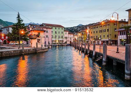 Lake Garda, Town Of Torbole (trentino, Italy) At Early Morning