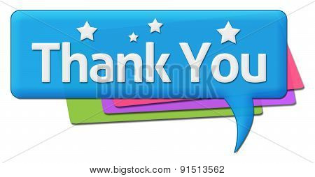 Thank You With Colorful Comment Symbol