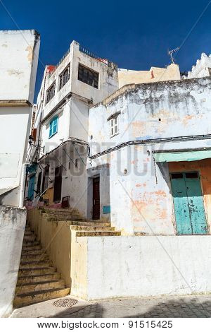 Arabic Streets, Old Medina Of Tangier, Morocco