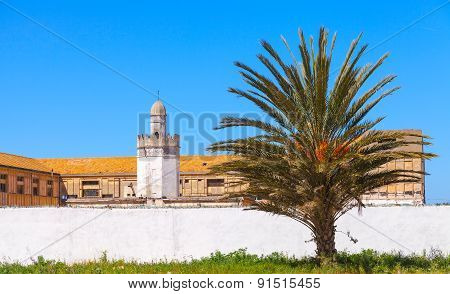 Abandoned Buildings With Mosque, Tangier