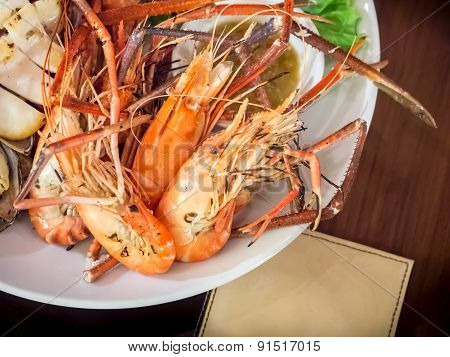 Combination Grilled Seafood