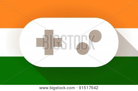 India Flag Icon With A Game Pad
