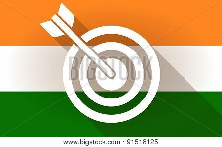 India Flag Icon With A Dart Board