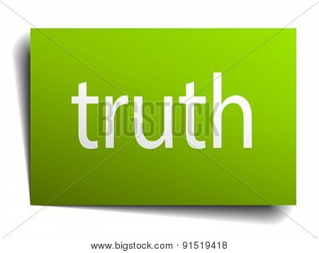 Truth Square Paper Sign Isolated On White