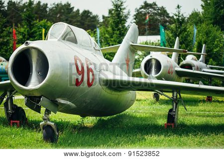 The Mikoyan-Gurevich MiG-15 is a Russian Soviet high-subsonic fi