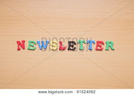 newsletter in foam rubber letters