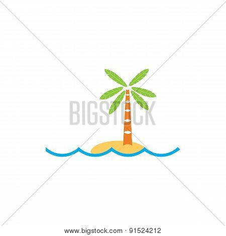 Tropical Island Logo For Your Design.