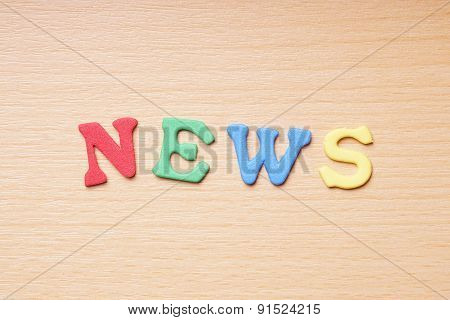 news in foam rubber letters