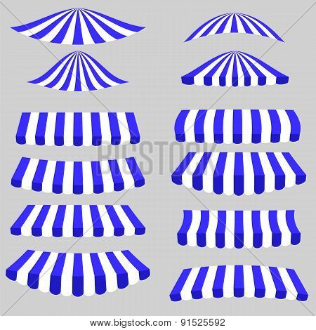 Blue  White Tents