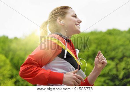 Woman Jogging.