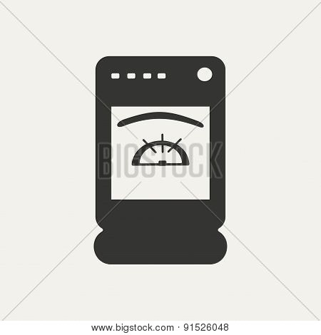 Flat in black and white mobile application cooker