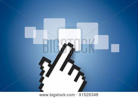 Hand Cursor On Digital Buttons