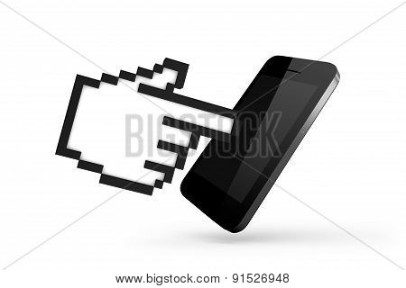 Hand Cursor With Smart Phone