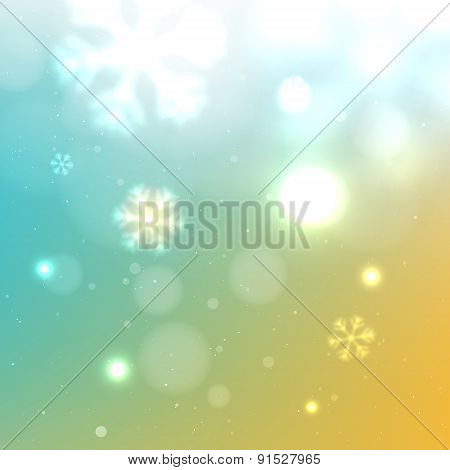 Beautiful Winter Snowy Background
