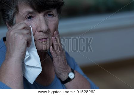 Old Women Crying