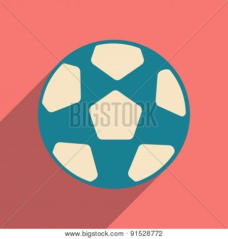 Flat with shadow icon and mobile applacation football