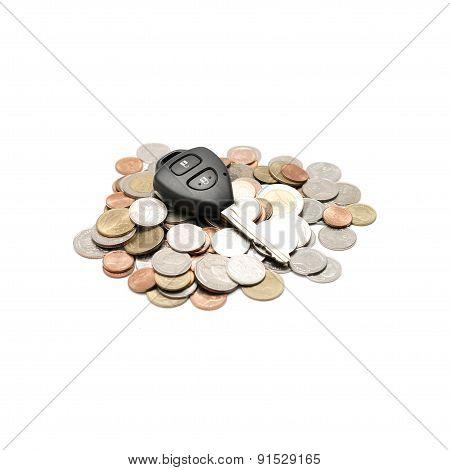 Car Key On Coin