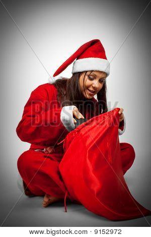 Santa With Christmas Sack