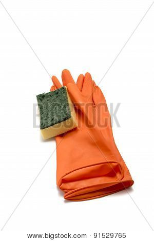 Cleaning Glove And Sponge