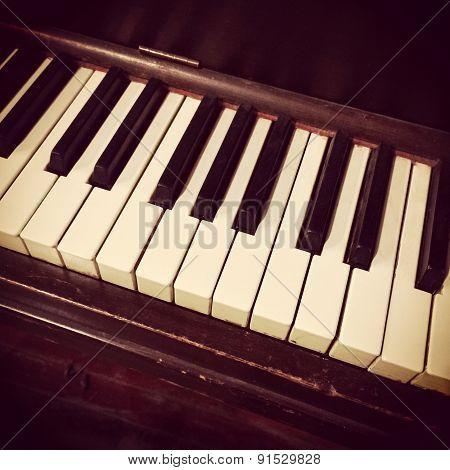 Retro Piano Keys