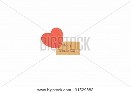 Happy Mother's Day Card And Heart