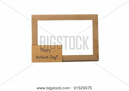 Happy Mother's Day Card And Photo Frame