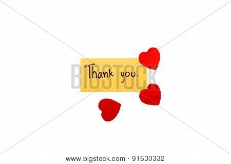 Thank You Card With Heart