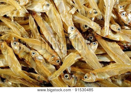 Small Dried Fish Background