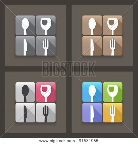 Flat backgrounds For Restaurant