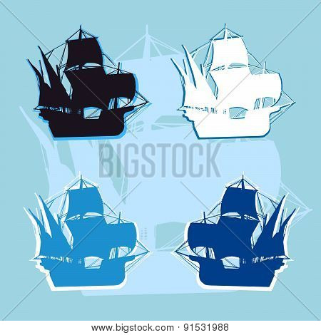 Ship logo vector