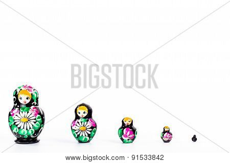 isolated set of four dark dolls