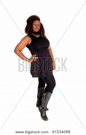 Posing African Woman In Tights.