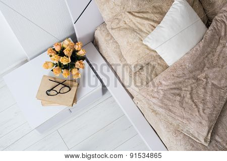 Bright white bedroom