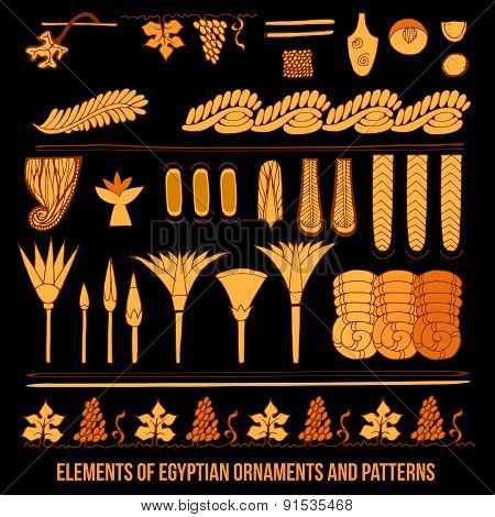 Elements of Egyptian ornaments