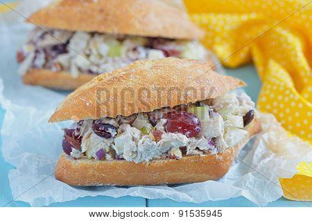 Chicken Salad Sandwich with Greek Yogurt