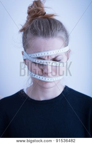 Tape Wrapped Around The Head