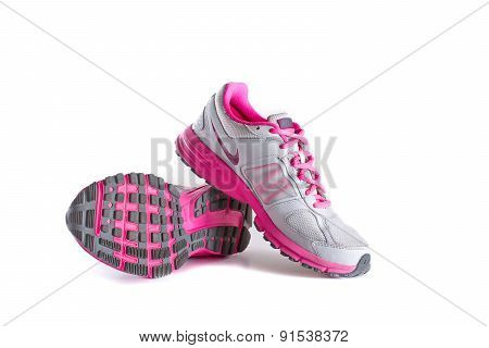 Nike Women's Pink Running Shoes - Sneakers