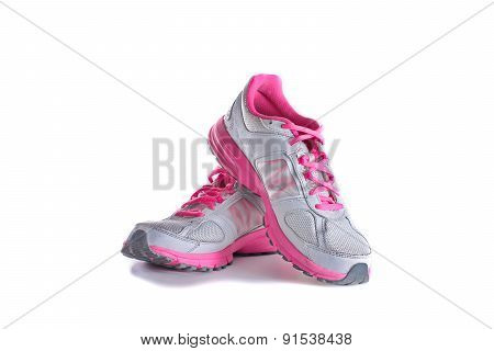Women's Pink Running Shoes - Sneakers