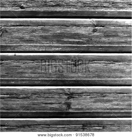 Natural Dark Wooden Background.