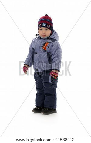 Child Of Three In Winter Clothes