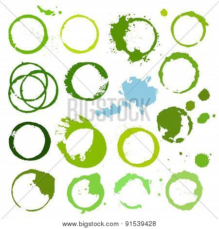 Abstract grunge background round stains.
