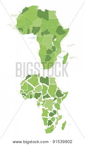 High Detailed Map of Africa
