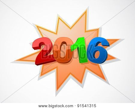 happy new year 2016 background holiday design