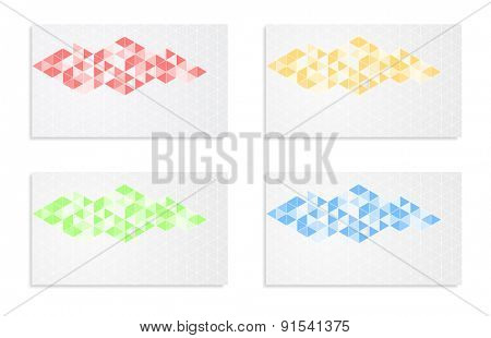 mosaic abstract background banner card design